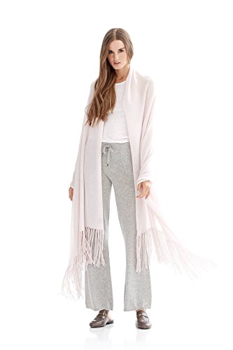 NAKEDCASHMERE Women's Georgia Shawl O/S Pale Pink by NAKEDCASHMERE