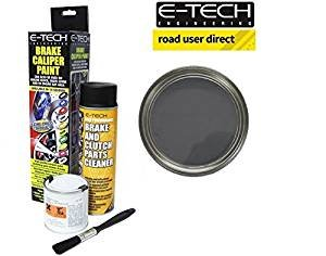 E-Tech Brake Caliper Paint - GRAPHITE - Complete Kit Inc Paint/Cleaner & Brush