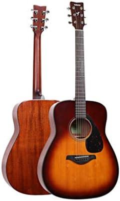 ギター ギターエレキギターヤマハFg800民俗理事エレクトリックボックス初心者の学生男性と女性41インチ エレキギター (Color : Sunset brown, Size : 130*40*12cm)