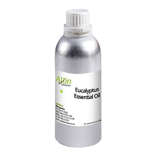 Allin Exporters Eucalyptus Essential Oil – 100% Pure and Natural Eucalyptus Oil – Ideal Choice for Aromatherapy and Aroma Diffusers – Excellent for Massage Over Skin, Muscle and Joints