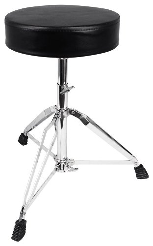 Rockville RDS30 Deluxe Thick Padded Foldable Drum Throne Stool Adjustable -