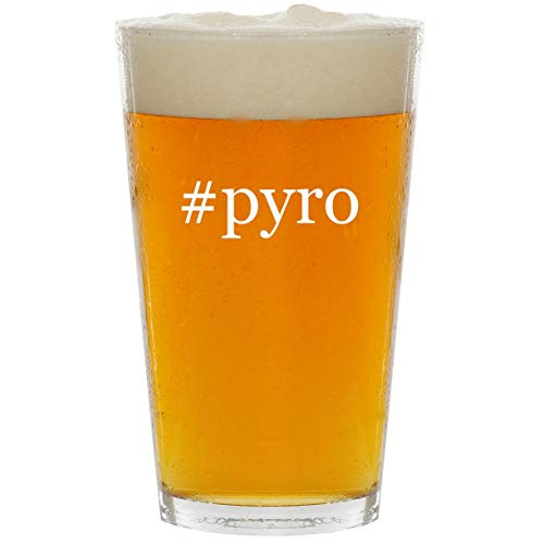 #pyro - Glass Hashtag 16oz Beer ()