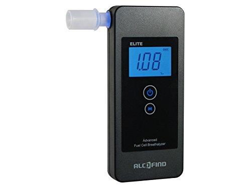 AlcoFind Elite Alcoholímetro digital Sensor electroquímico Pantalla LED Portátil  accesorios