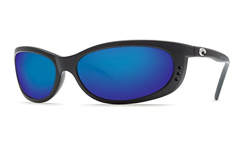 Costa del Mar Unisex-Adult Fathom FA 11 OBMP Polarized Iridium Oval Sunglasses, Matte black, 60.5 - Mar Costa Del 580 Fathom