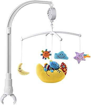 Baby Crib Mobile Musical Arm Bracket 23-Inch with Adjustable Clamp Claw Fits Traditional and Convertible Cribs