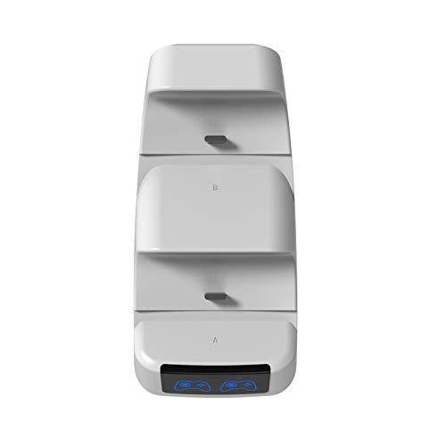 Gamory Manette Chargeur pour PS5,Station de Charge PS5 avec 2 Ports de Charge de Type-c Chargeur PS5 Portable Léger avec écran LED