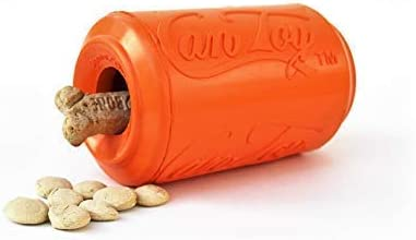 SodaPup - Natural Rubber Soda Can Dog Sqeaker Toy - Made in USA - Orange Squeeze - Medium