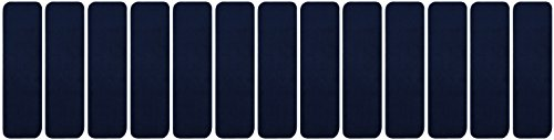 - RugStylesOnline TRENDY-ST-8X30-NAVY-13 Trendy Stair Tread Treads Indoor Skid Slip Resistant Carpet Stair Tread Treads Machine Washable 8 ½
