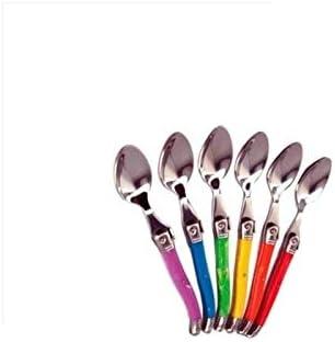 LAGUIOLE 6 cuillères à café Ambiance couleurs vives, pour tous les jours.  Présenté dans leur coffret vitrine. Créez l\'ambiance à votre table ! ...