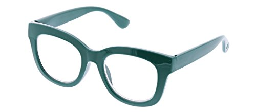Peepers Women's Center Stage - Emerald 2523150 Round Reading Glasses, Emerald, 1.5