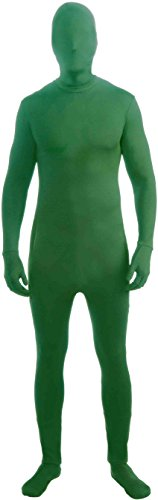 Forum Novelties Men's Disappearing Man Solid Color Stretch Body Suit Costume, Green, Large/X-Large -