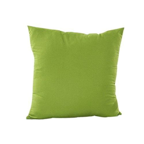 TIFENNY Fashion Cheap Home Decor Pillow Case Cotton Linen Cushion Cover(Green)