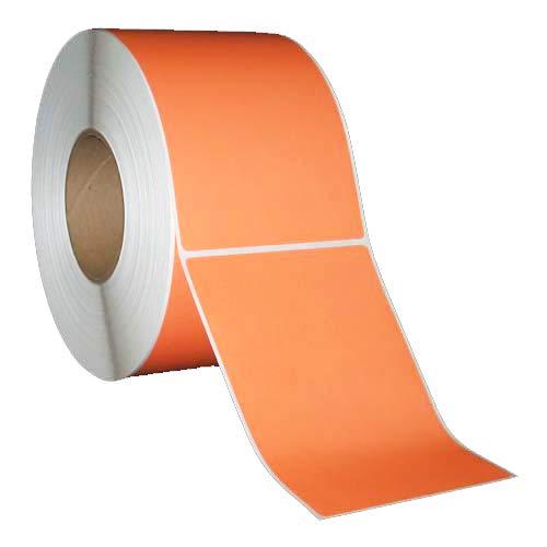 Tt Barcode Printer - 4x6 inch Thermal Transfer Paper Labels - Orange - Rolls - 8