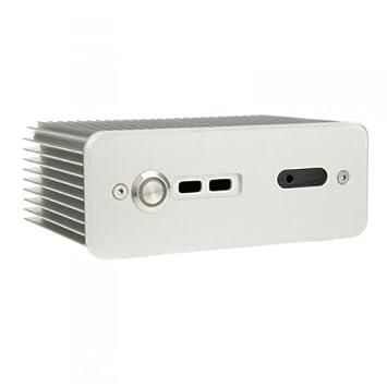 KL Impactics D3NU1-IR-USB-S - Carcasa con disipador térmico integrado y ventilador mSATA, color plateado