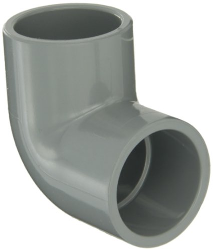 """GF Piping Systems CPVC Pipe Fitting, 90 Degree Elbow, Schedule 80, Gray, 2"""" Slip Socket"""