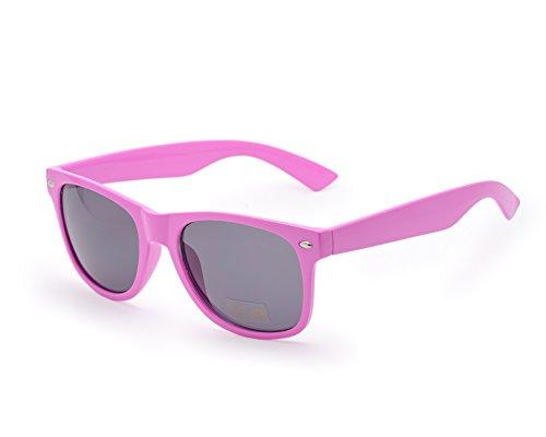 cristales estilo unisex Gafas los espejo Rosa de de retro sol de 80 8HtwqSRt