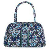- Vera Bradley Turn Lock Satchel in Ink Blue, 13459-164
