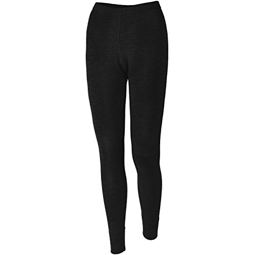 Elementex Merino Wool Women's Midweight Base Layer Bottom - Black/Large (Womens Cycling Base Layer compare prices)