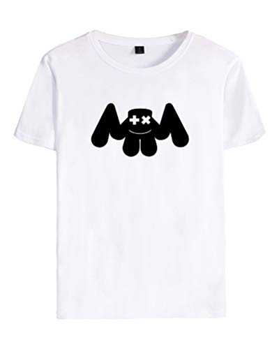B Unisex Corta T Shallgood Para Fans Adolescentes Dj Cool Marshmello Blanco shirt Top Mellogang Eléctrico Mujer Sonido Pareja Camiseta Hombre Manga qqpHgY