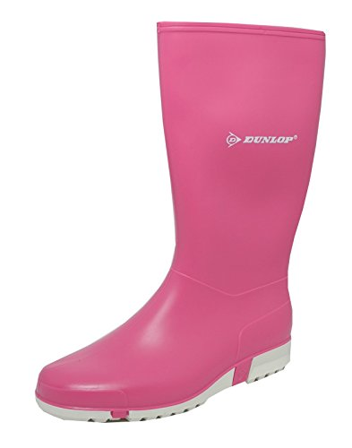 Mujeres Rosa botas de agua Dunlop deportes Botas de goma Wellington tallas 4–8