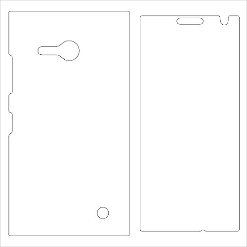 (2-Pack) StealthShields Full Body Screen Protector for Nokia Lumia 730 (Ultra Clear)