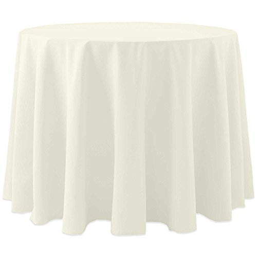 Ultimate Textile (10 Pack) Cotton-feel 60-Inch Round Tablecloth - for Wedding and Banquet, Hotel or Home Fine Dining use, Ivory Cream by Ultimate Textile