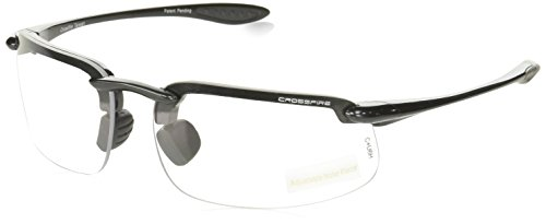 Crossfire Eyewear 216415 1.5 Diopter ES4 Safety Glasses with Gray Frame and Clear - Small Glasses Safety For Faces