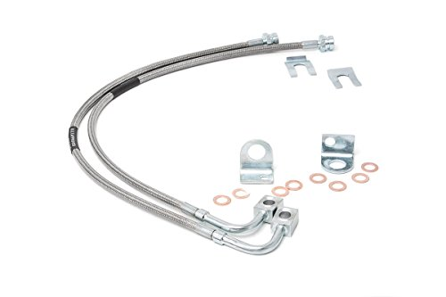 Rough Country 89708 Rear Extended Stainless Steel Brake Line for 4-6-inch Lifts, 1 (Jeep Wrangler Brake Lines)