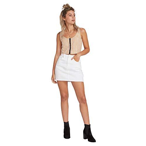 Volcom Women's Fix It Mid Rise Mini Skirt - Volcom Mini Skirt