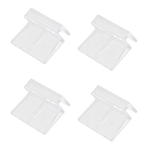 Flameer 4pcs Aquarium Fish Tank Cover Clip for Catching Smelt Eels Crab Lobster Minnows Shrimp and Crawfish ()