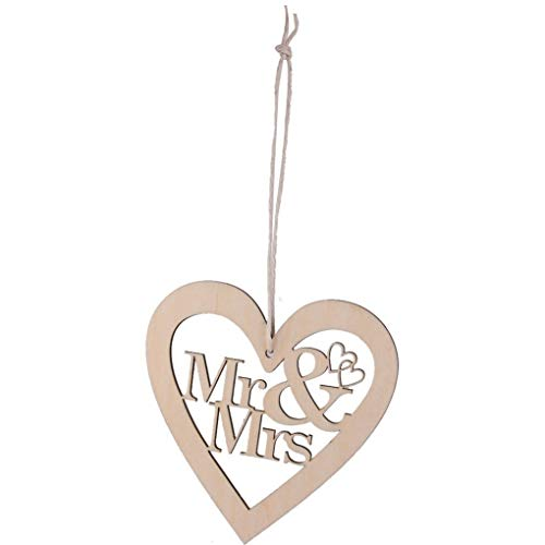 Mr Mr - 10pcs Hollow Heart Mr Mrs Hanging Ornaments Wooden Craft Decor - Books Gifts Flutes Cases Passport Cake Dish Ring Girls Holder Pillow Mugs Wedding Generation Church Sign Luggage Tags