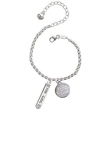 Delight Jewelry Hope Anchors The Soul Bar Real Heroes Dont Wear Capes They Teach Engraved Bracelet