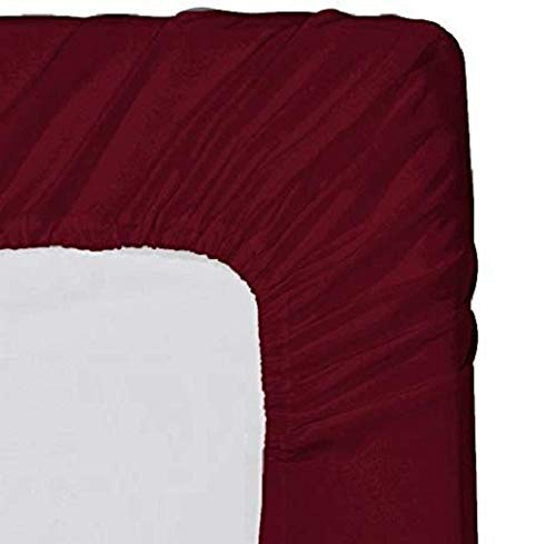 White Myra Home Collection Egyptian Cotton 700 Thread Count 1 Fitted Sheet Cal-King 20 Inch Deep Pocket Bottom Sheet Only