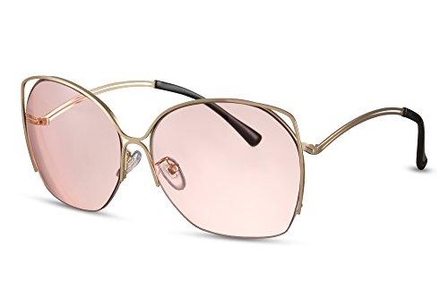 de de Or2 chat UV400 grandes Femmes soleil faite métal Cheapass Monture Style rondes Lunettes yeux de q8aU4R