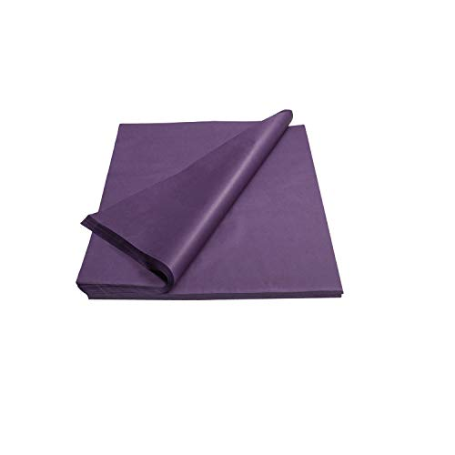 Crown 480 Sheets Bulk Pack Purple Tissue Paper Gift Wrap – Ream of Paper – 20 inch. x 30 inch. Wrapping Tissue Paper – for Scrapbooking Paper, Art n Crafts, Wrapping Christmas Gifts and More!!