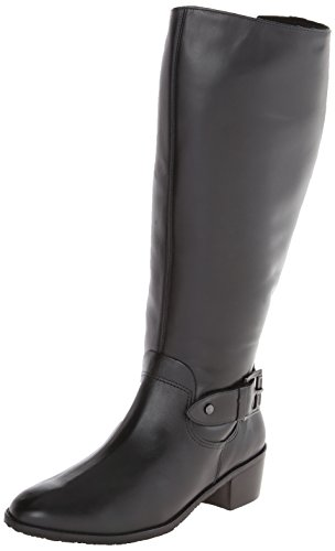 Rose Petals Women's Chelsea Extra Wide Calf Riding Boot, Black, 6 M US