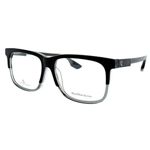 Alexander McQueen MCQ 0055/F GG5 Black Grey Crystal Rectangle - Alexander Frames Mcqueen