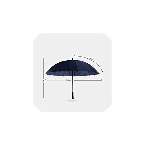 Rain Umbrella 24K Strong Windproof Glassfiber Frame Long Handle Umbrella Women Parasol P2XKL6073001LK,P2XKL6073001LK