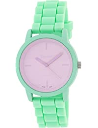 Geneva Platinum Women's 9856.MINT.LAVENDAR Green Silicone Quartz Watch