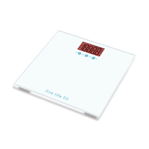 Fitlosophy Goal Centric Digital Body Weight Scale, White by Fitlosophy