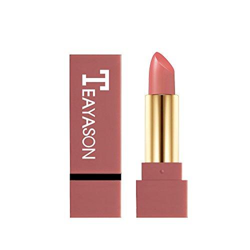 (Redvive Top Matte Lipstick Waterproof Pigment Brown Nude Long Lasting Lipstick Matte Makeup)