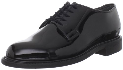 Bates Men's High Gloss Leather Sole Work Shoe,Black,9 D US