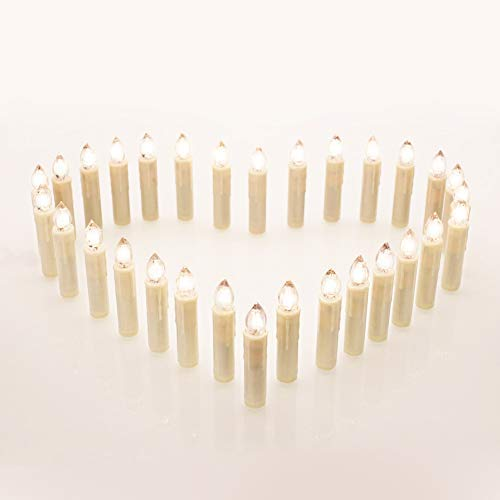 20Pcs Fameless Candles Lights for Home and Party Decoration, DECKEY Candles Flickering with Remote Timer, Battery Operated Clip Lights for New Year, Christmas Tree,12 Colors, 20 pcs]()