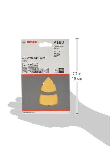 Bosch 2608607409 Feuille abrasive 10 pi/èces Grain 120