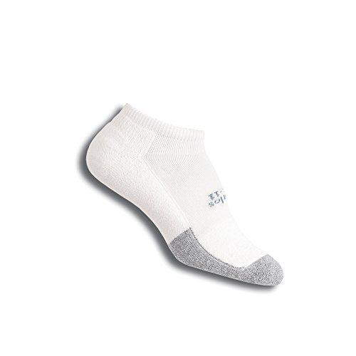 Thorlos Unisex T1CCU Tennis Thin Padded Low Cut Sock, White, Small