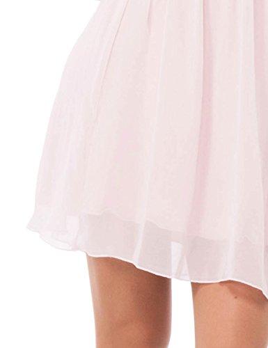 Solo Capri Abito con Balze, Vestido para Mujer Multicolor (Corallo_Rosa)