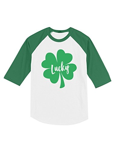 Irish Lucky Clover St. Patrick's Day Toddler Raglan 3/4 Sleeve Baseball Tee
