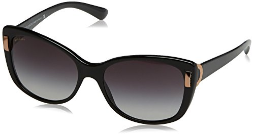 Bvlgari BV8170 501/8G Black BV8170 Cats Eyes Sunglasses Lens Category 3 Size 57 (Bvlgari Sunglasses)