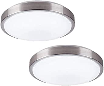 Amazon Com Zhma 8 Inch Led Ceiling Lights Flush Mount Lighting Round 12w 880lm 80w Incandescent Equivalent Ac85v 265v Natrual White Light For Kitchen Bathroom Dining Room Closet 2 Pack Home Improvement