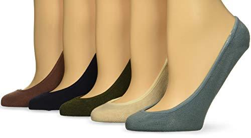 (Keds Women's 5 Pack Solid Liner Socks, Rose Taupe Assorted, Shoe Size: 4-10 )